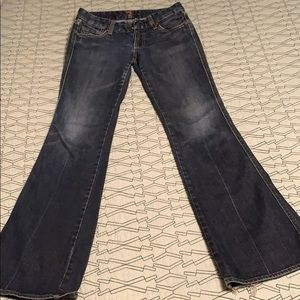 Seven dark bell bottom denim. Size 27